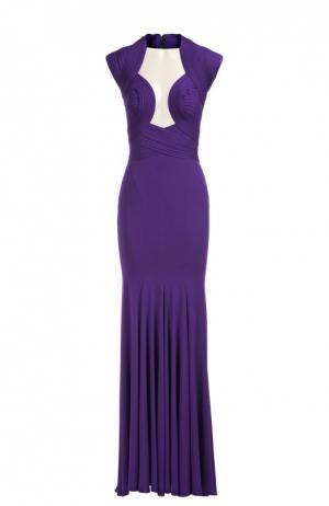 Платье вечернее Herve L.Leroux. Цвет: фиолетовый