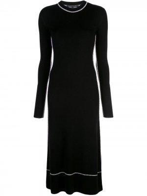 Платье с длинными рукавами и круглым вырезом Proenza Schouler. Цвет: черный