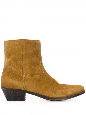 Ковбойские ботинки Golden Goose. Цвет: коричневый