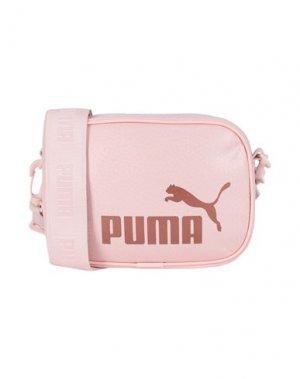 Сумка через плечо PUMA. Цвет: розовый
