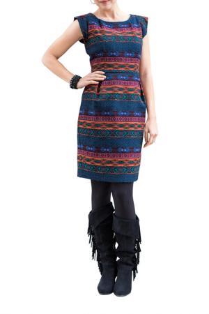 Платье Apart. Цвет: темно-синий, мультицвет