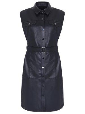 Платье-жилет из экокожи KARL LAGERFELD