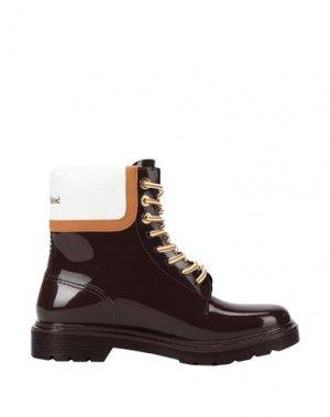 Полусапоги и высокие ботинки SEE BY CHLOÉ. Цвет: красно-коричневый