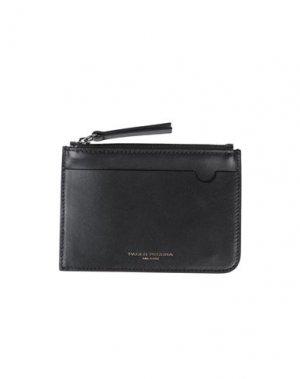 Бумажник PAOLO PECORA. Цвет: черный