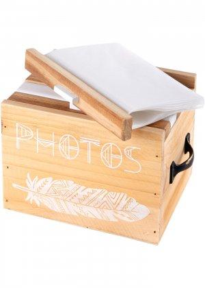 Ящик для хранения фотографий bonprix. Цвет: бежевый