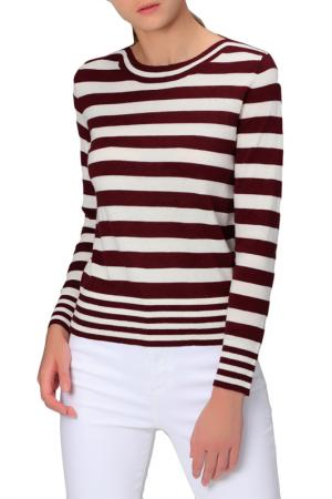 Пуловер MANODE. Цвет: vinous, white
