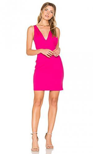 Обтягивающее платье demi Amanda Uprichard. Цвет: розовый