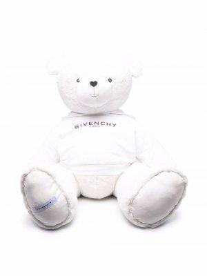 Мягкая игрушка в виде медведя с логотипом Givenchy Kids. Цвет: белый