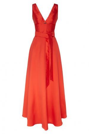 Красное платье с поясом Adolfo Dominguez. Цвет: красный