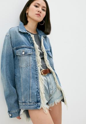 Куртка джинсовая Iro. Цвет: голубой