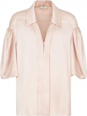 Блузка с объемными рукавами Fendi. Цвет: розовый