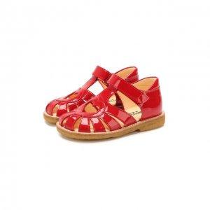 Кожаные босоножки Angulus. Цвет: красный
