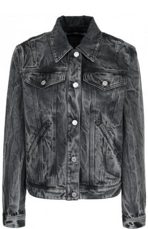 Джинсовая куртка с потертостями Givenchy. Цвет: серый