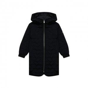 Стеганое пальто Emporio Armani. Цвет: синий
