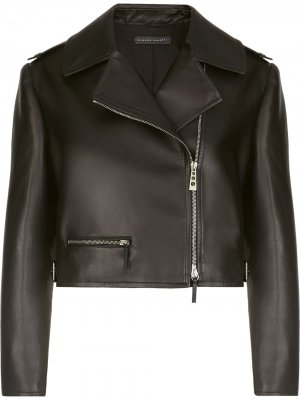 Укороченная байкерская куртка Giuseppe Zanotti. Цвет: черный