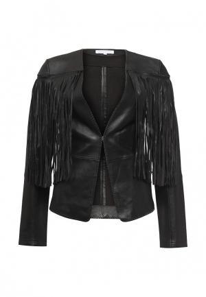 Куртка кожаная Patrizia Pepe PA748EWPTQ56. Цвет: черный