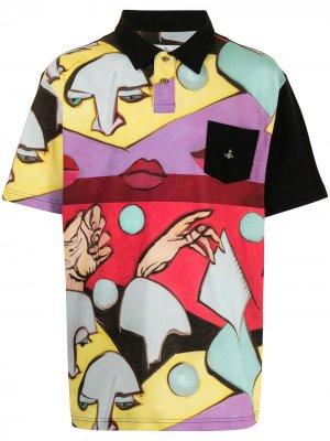 Рубашка поло с принтом Vivienne Westwood. Цвет: разноцветный