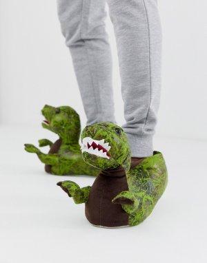 Слиперы в форме тиранозавров s-Зеленый Loungeable