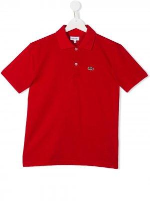 Рубашка-поло с нашивкой-логотипом Lacoste Kids. Цвет: красный