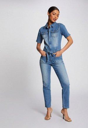 Комбинезон джинсовый Morgan. Цвет: голубой