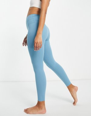 Голубые леггинсы длиной 7/8 Nike Yoga Luxe-Голубой Training