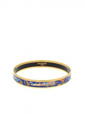 Браслет-бэнгл PM pre-owned с узором Hermès. Цвет: золотистый
