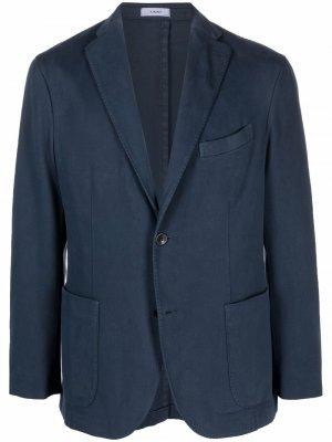 Пиджак узкого кроя Boglioli. Цвет: синий