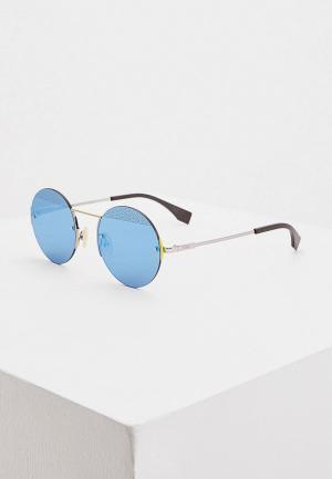 Очки солнцезащитные Fendi FF M0058/S MVU. Цвет: серебряный