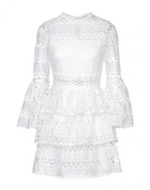 Короткое платье ALEXIS. Цвет: белый
