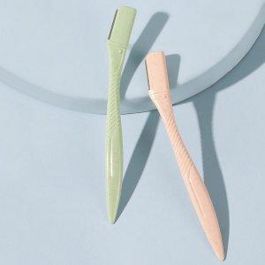Триммер для бровей с ручкой 2шт SHEIN. Цвет: многоцветный