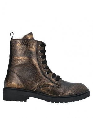 Полусапоги и высокие ботинки FORNARINA. Цвет: бронзовый