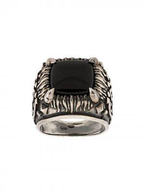 Декорированный перстень Emanuele Bicocchi. Цвет: серебристый