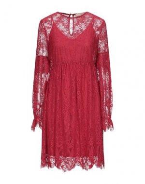 Короткое платье ANIYE BY. Цвет: красный