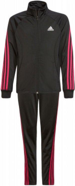 Костюм для девочек adidas Team 3-Stripes, размер 164. Цвет: черный