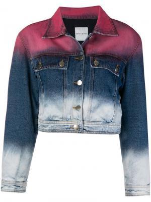 Градиентная джинсовая куртка Each X Other. Цвет: синий