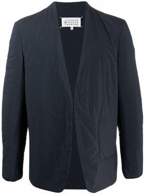 Пиджак без воротника с длинными рукавами Maison Margiela. Цвет: черный