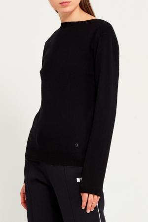 Пуловер кашемировый с разрезом Nina Ricci. Цвет: черный