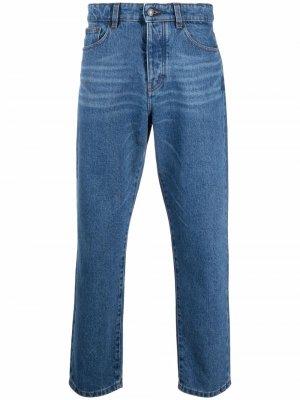 Зауженные джинсы средней посадки AMI Paris. Цвет: синий