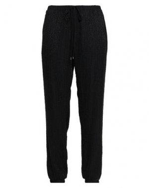 Повседневные брюки HAUTE HIPPIE. Цвет: черный