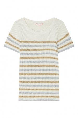 Полосатый пуловер Bonpoint. Цвет: бежевый