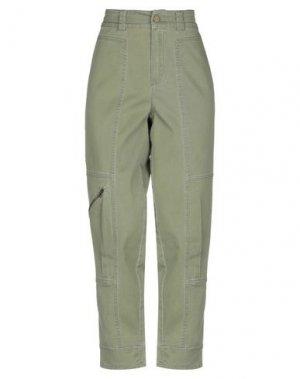 Повседневные брюки SET. Цвет: зеленый-милитари