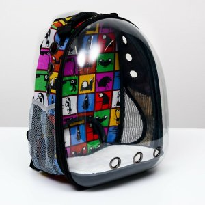 Рюкзак для переноски животных прозрачный Пижон