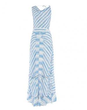 Длинное платье ALTUZARRA. Цвет: лазурный