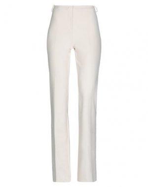 Повседневные брюки PINKO. Цвет: слоновая кость