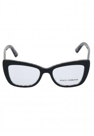 Корригирующая оправа DOLCE&GABBANA sunglasses. Цвет: черный