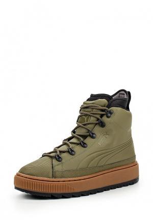 Кеды PUMA The Ren Boot Burnt Olive-Puma. Цвет: хаки