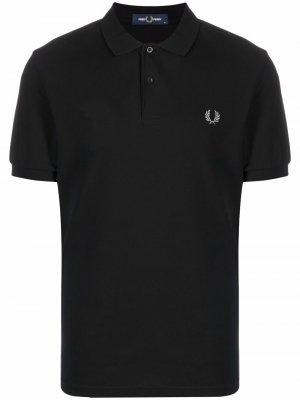 Рубашка поло с вышитым логотипом FRED PERRY. Цвет: черный
