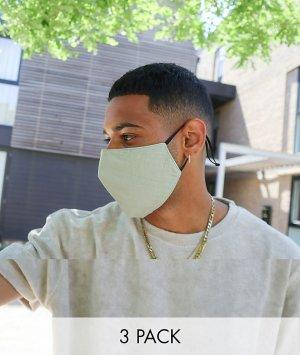 3 маски для лица унисекс с регулируемыми ремешками -Мульти ASOS DESIGN