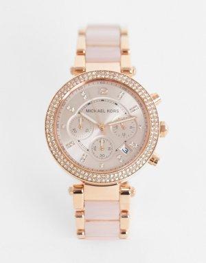 Часы-браслет цвета розового золота Parker MK5896-Розовый цвет Michael Kors