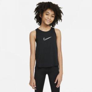 Майка для тренинга девочек школьного возраста Dri-FIT Trophy - Черный Nike